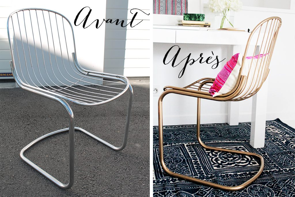 Grand Comment Peindre Des Chaises Metal En Dore 3 Idees De Conception De Maison